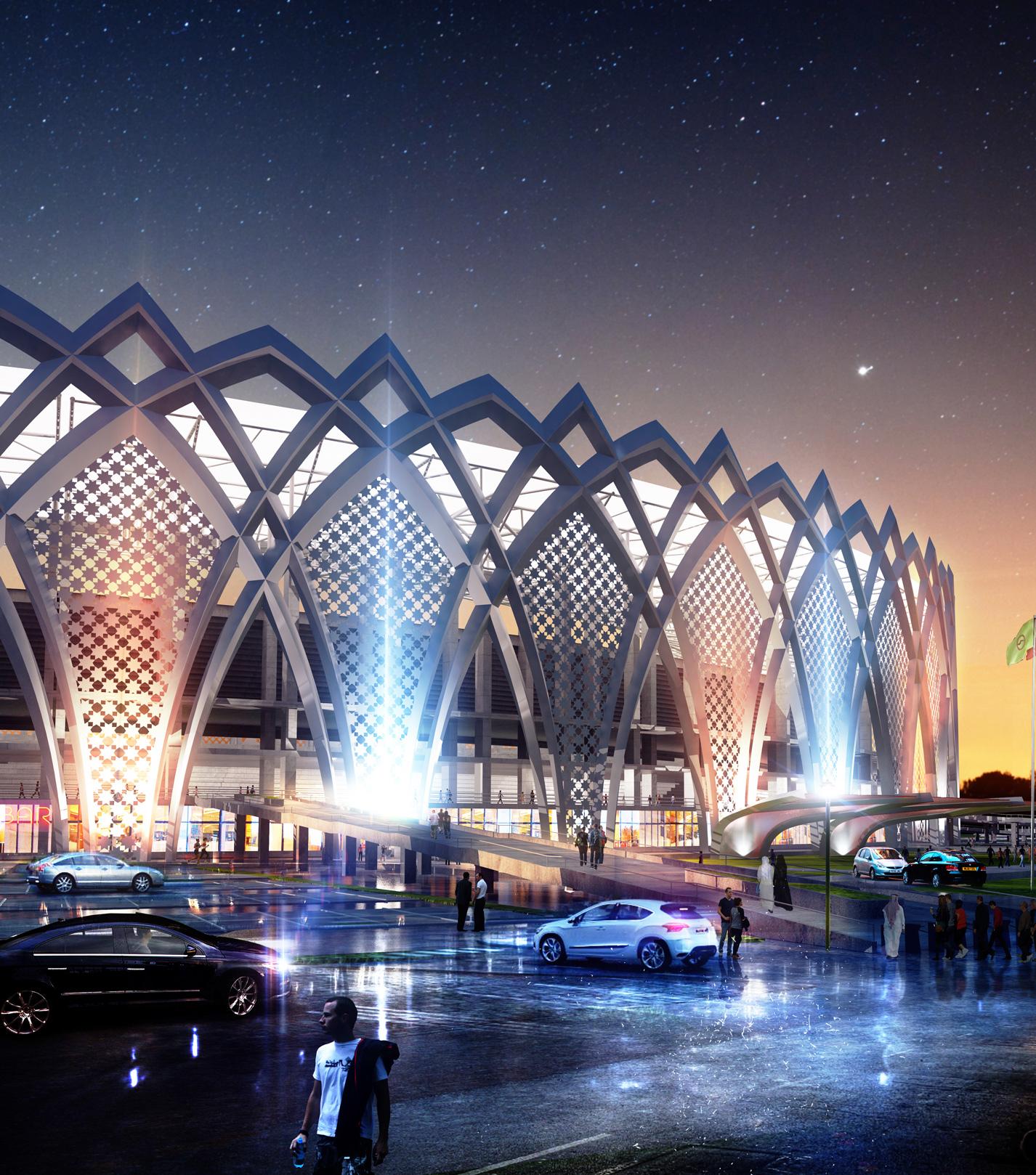 مجموعه ورزشی ۱۲هزار نفری الزورا و استادیوم المپیک ۶۰هزارنفری تاجیات بغداد