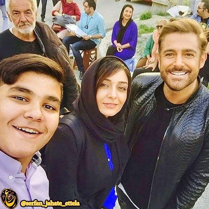 اینستاگرام گردی: محمدرضا گلزار و ساره بیات / پشت صحنه سریال عاشقانه