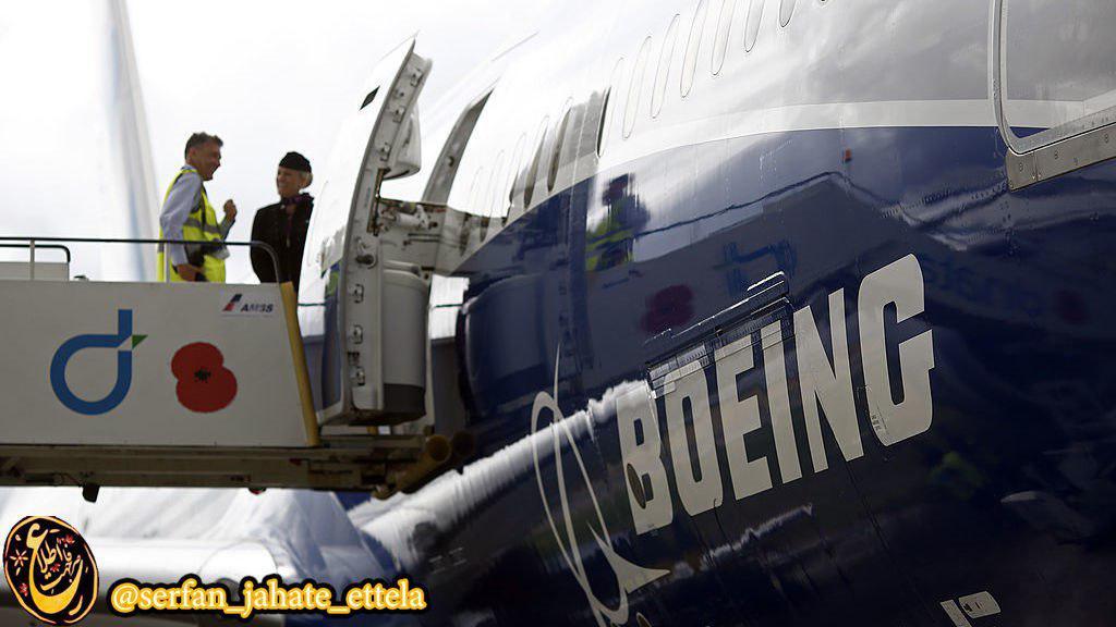 آغاز رنگ آمیزی یکی از ۸۰ هواپیمای بوئینگی که ایران ایر اخیرا خریداری کرده است.