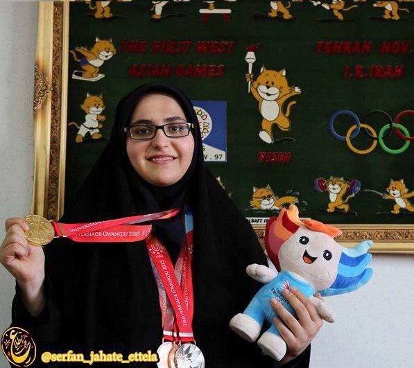 مه لقا جام بزرگ پرچمدار كاروان ايران در بازیهای همبستگی كشورهای اسلامی شد