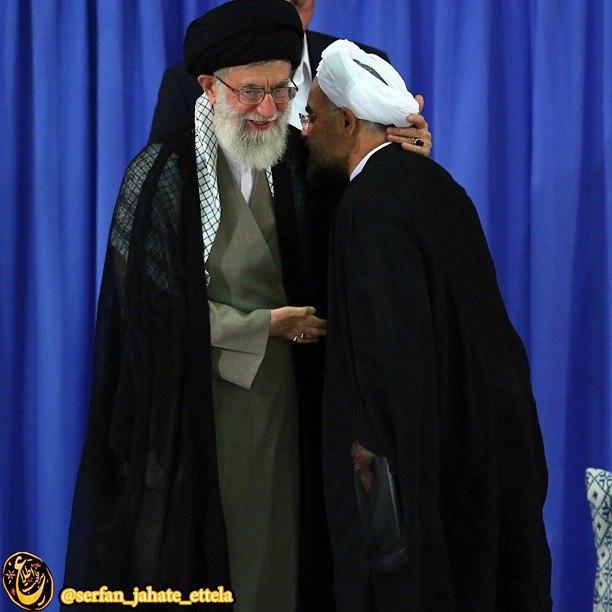 حسن روحانی، رئیس جمهور صبح امروز و قبل از حضور در حرم امام راحل، به دیدار رهبر انقلاب رفتند