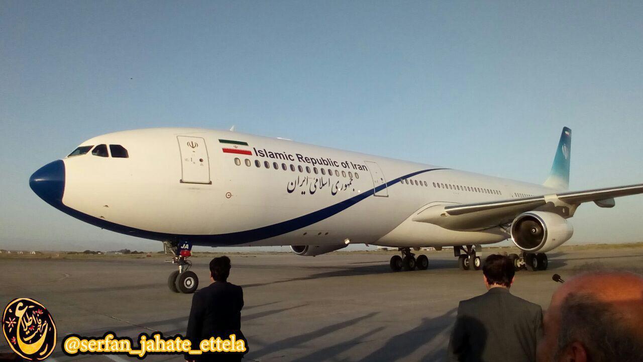 رئیس جمهوری لحظاتی قبل وارد فرودگاه شهید هاشمی نژاد مشهد شد