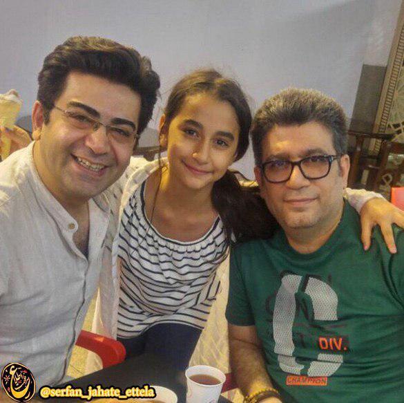 اینستاگرام گردی: فرزاد حسنی در کنار رضا رشیدپور و دخترش هلن