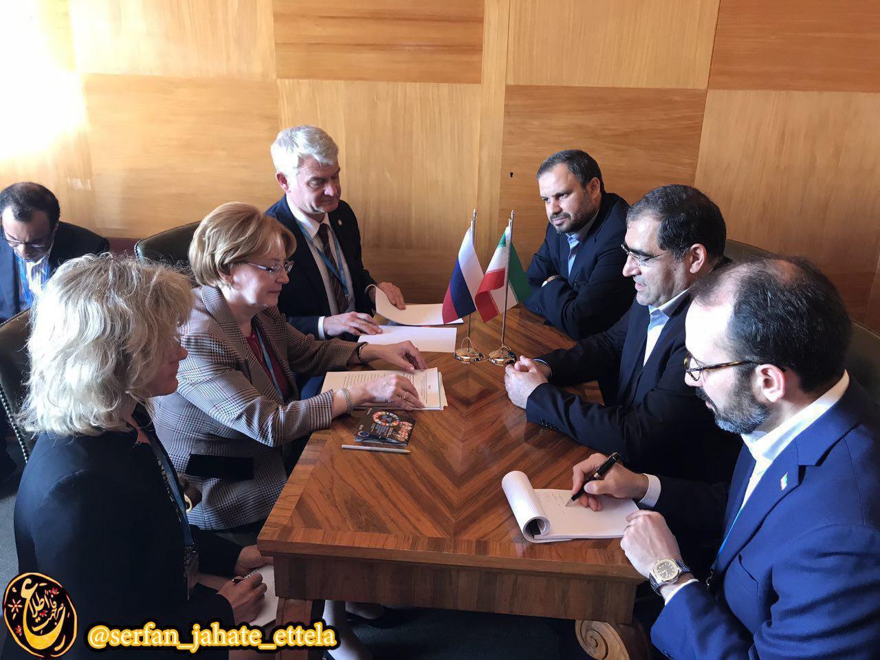 """ديدار هاشمي وزير بهداشت با """"ورونيكا اسكورتسوا"""" وزير بهداشت روسيه"""