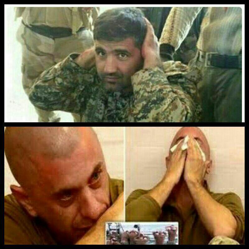 لحظه اسارت شهید مدافع حرم،فریدون احمدی ولحظه اسارت سربازان آمریکائی در خلیج فارس