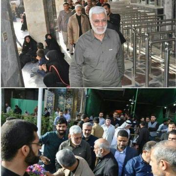 تصاویر رسانههای عراقی از حضور روز پنجشنبه سردار «قاسم سلیمانی» در کربلا