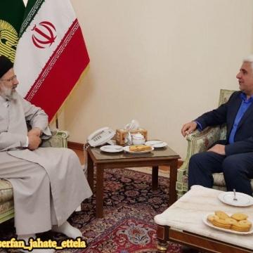 دیدار فرهاد رهبر رئیس جدید دانشگاه آزاد اسلامی با ابراهیم رئیسی