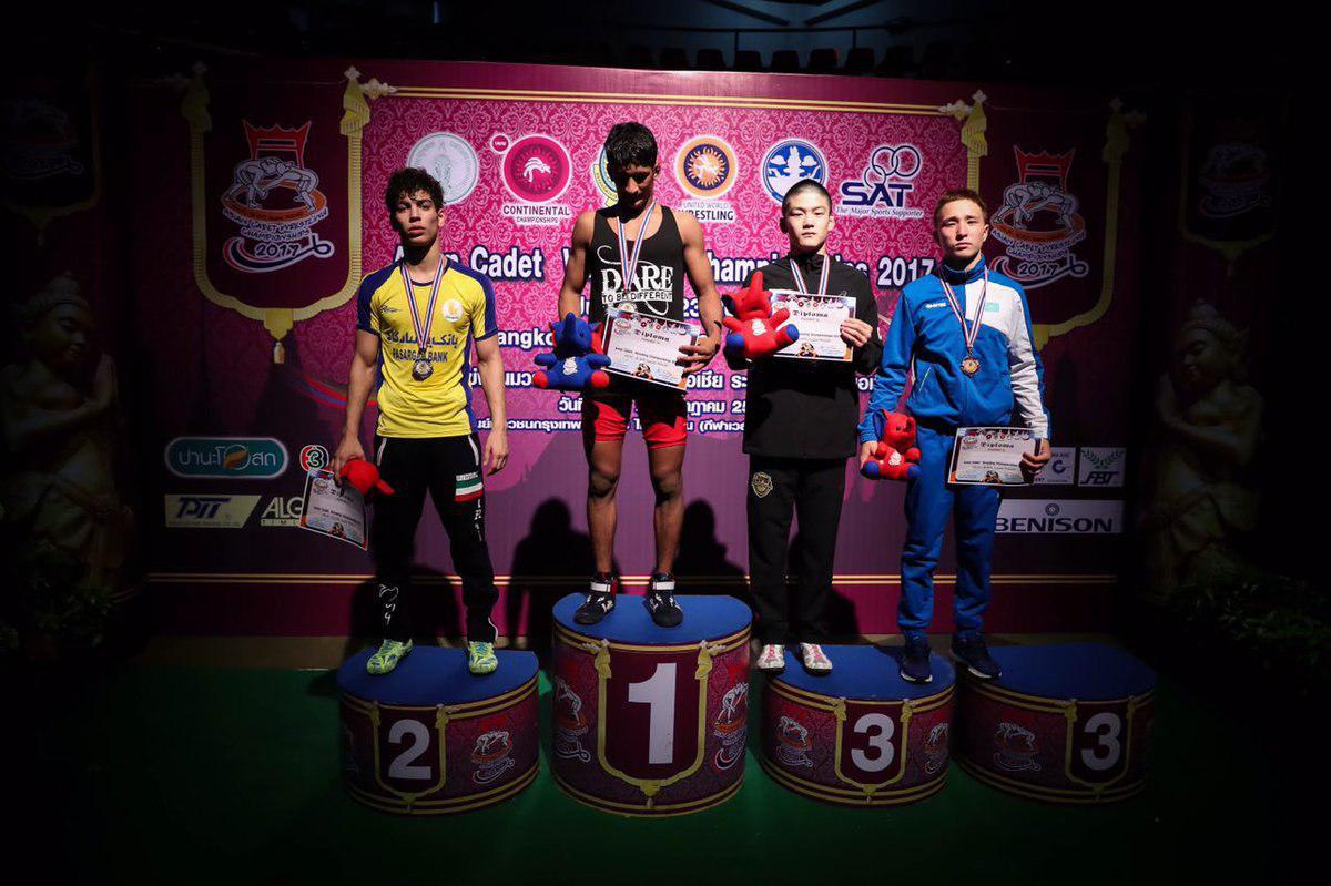 ایران قهرمان رقابتهای کشتی آزاد نوجوانان آسیا شد