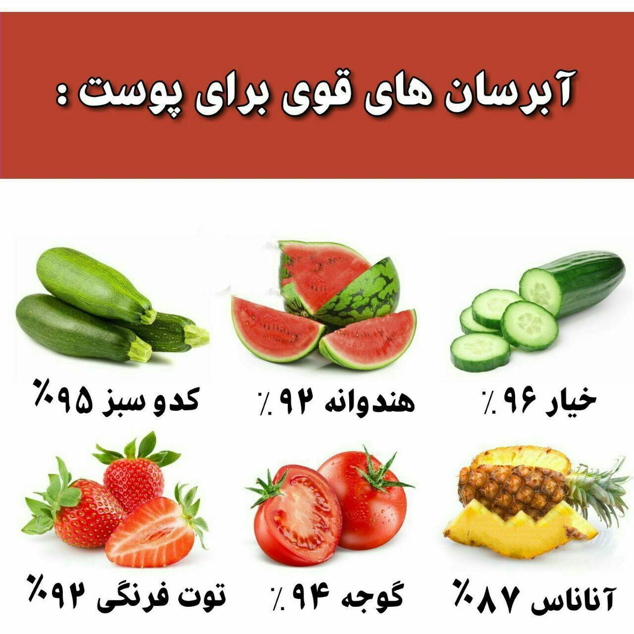 ۶ میوه ای که آبرسان قوی برای پوست هستند