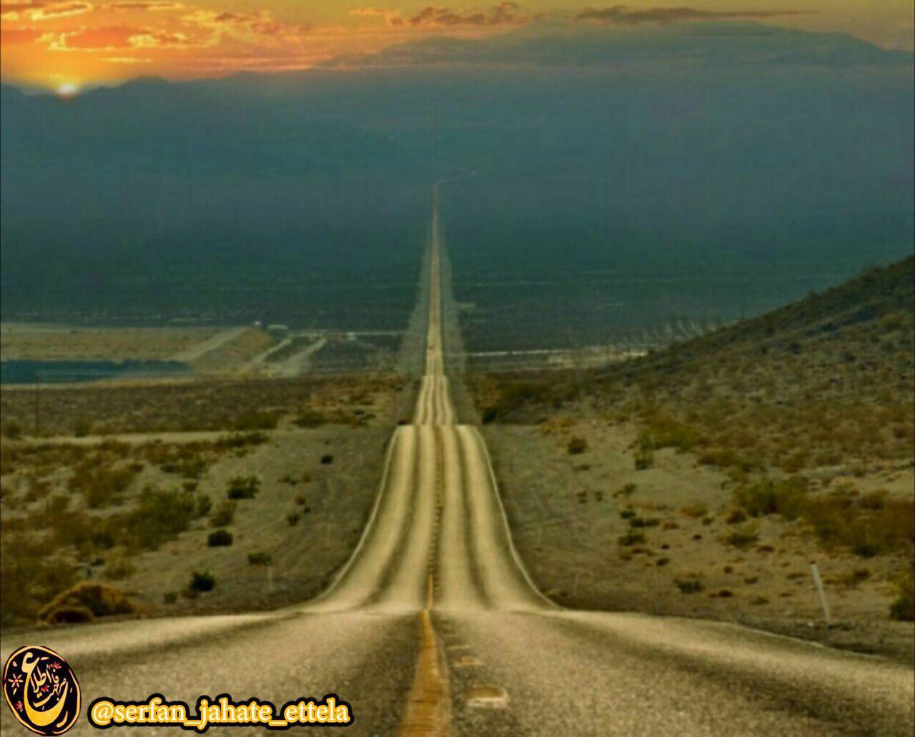 """یکی از طولانی ترین جاده های مستقیم دنیا، جاده ای به نام """"دره مرگ"""" در آمریکا"""