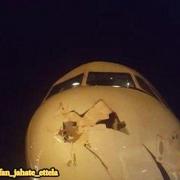 شامگاه چهارشنبه، یک پرنده با هواپیمای تفلیس- تهران برخورد کرد و دماغه هواپیما به شدت آسیب دید،
