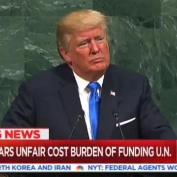 صحنه جالب سخنرانی ترامپ در سازمان ملل!