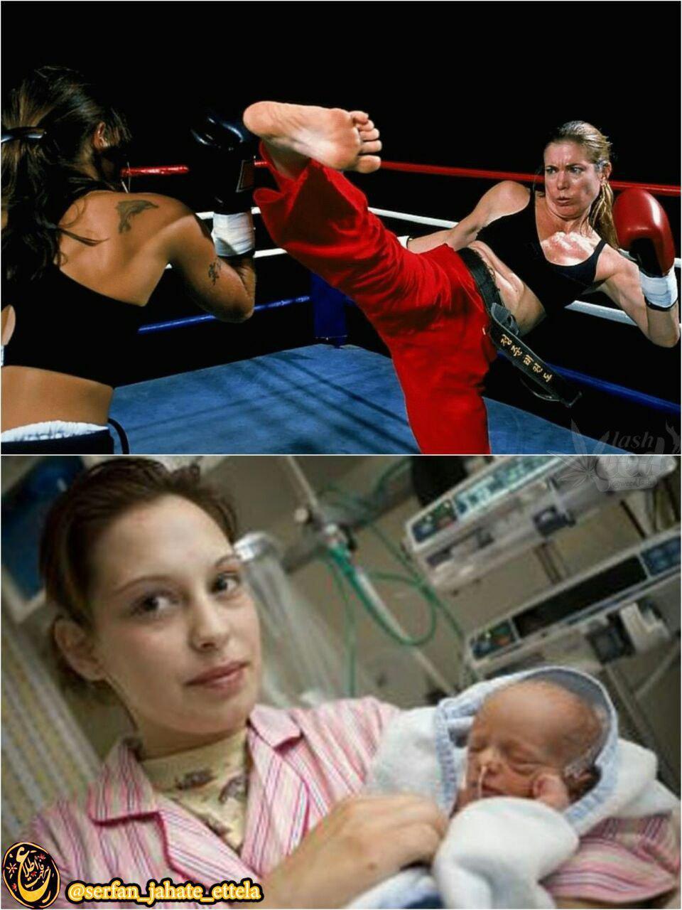 دختر جوانی که درتمام مدت حاملگی و تا زمان زایمان، نمی دونسته