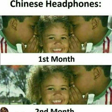 وضعیت هدفون چینی بعد دو ماه!