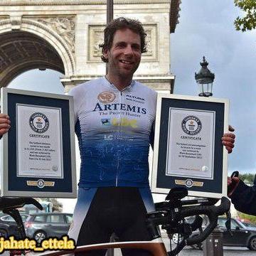 یک دوچرخهسوار استقامتی از بریتانیا با طی کردن ۱۸ هزار مایل در ۷۸ روز رکورد گینس را شکست
