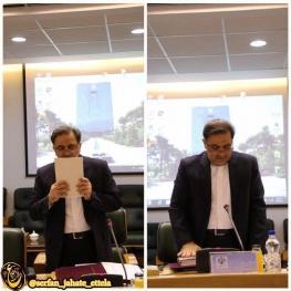 عباس آخوندي به عنوان عضو جديد شوراي پول و اعتبار در جلسه امروز سوگند خورد
