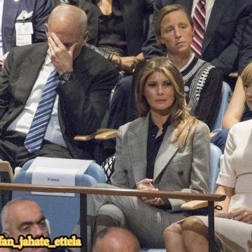 این عکس  به عنوان نشانه تاسف ژنرال جان کلی از سخنرانی ترامپ در سازمان ملل تفسیر شده است