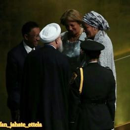 گفت و گوی روحانی با نمایندگان کشورها پس از سخنرانی در مجمع عمومی سازمان ملل