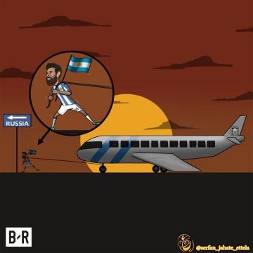 کاریکاتور/تلاش مسی برای صعود آرژانتین به جام جهانی!