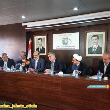 نشست دکتر علی عسگری با وزیر اطلاع رسانی و مدیر سازمان رادیو و تلویزیون سوریه