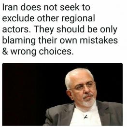 توئیت دکتر ظریف: ایران به دنبال حذف دیگر بازیگران منطقهای نیست.