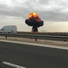 یک جنگنده F۱۸متعلق به ارتش اسپانیا در نزدیکی پایتخت این کشور سقوطکرد