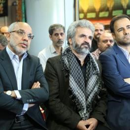 پدر ومادر شهید مدافع حرم محسن حججی در دفتر حوزه مقاومت بسیج شهدای بانک سپه