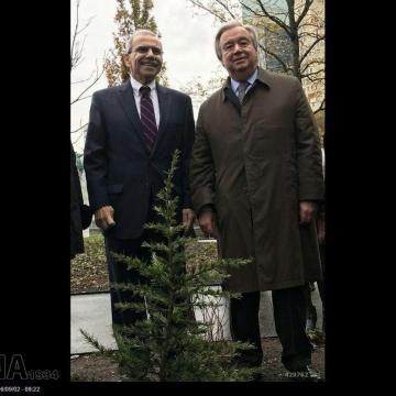 غرس نهال توسط دبیر کل سازمان ملل متحد در روز ملی لبنان