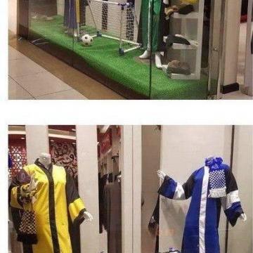 لباس مخصوص زنان عربستانی برای تماشای مسابقات ورزشی