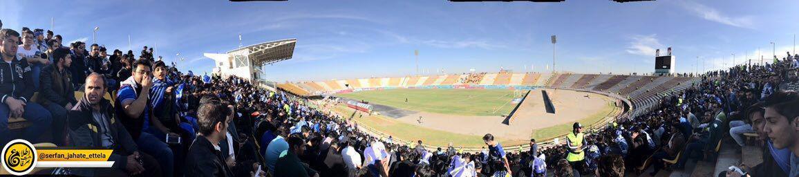 تصوير پاناروما از ورزشگاه ثامن، محل ديدار سیاه جامگان – استقلال