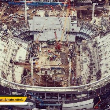 جدیدترین تصویر از ورزشگاه ۶۱ هزار نفری تاتنهام