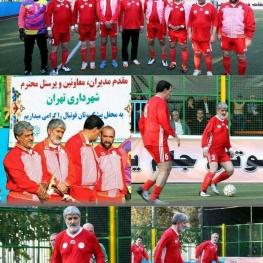 علی مطهری و مسعود پزشکیان در حال بازی فوتبال!