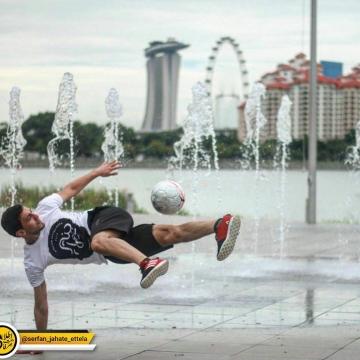 احمدرضا فلسفی رتبه سوم مسابقات آسیاسی فوتبال نمایشی سنگاپور را بدست آورد