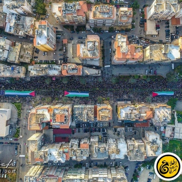 تصویر هوایی از تظاهرات مردم لبنان