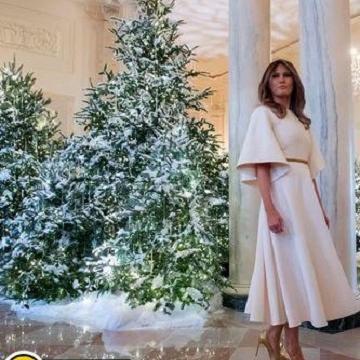 لباس کریسمس همسر ترامپ