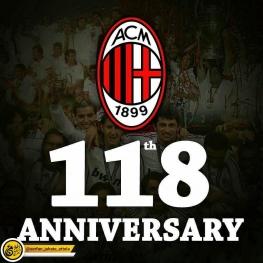 باشگاه فوتبال میلان ایتالیا امروز ۱۱۸ ساله شد.