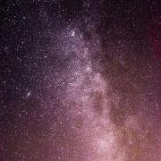 نمایی از کهکشان راهشیری در آسمانشب اراک، ایران.