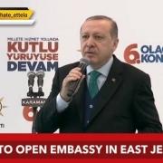 افتتاح سفارت ترکیه در قدس شرقی