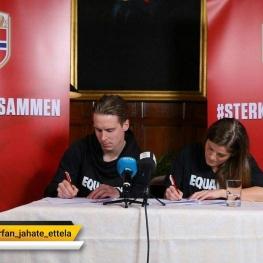 دستمزدهای برابر در فوتبالیستهای مردو زن نروژ