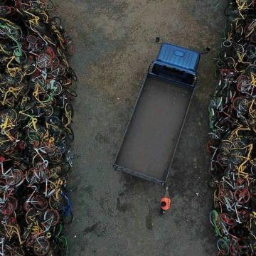 قبرستان دوچرخه ها در چین