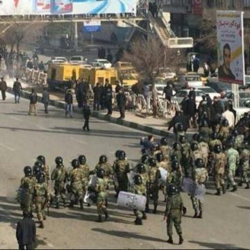 تصویری از تجمعات اعتراضی امروز در کرمانشاه