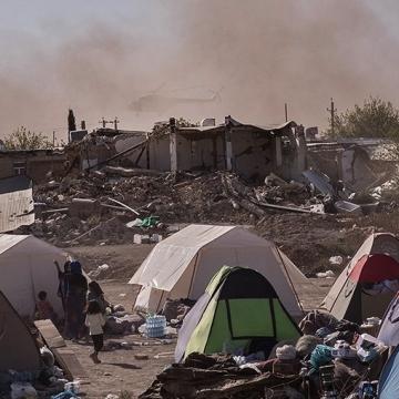 توفان روز گذشته در کرمانشاه