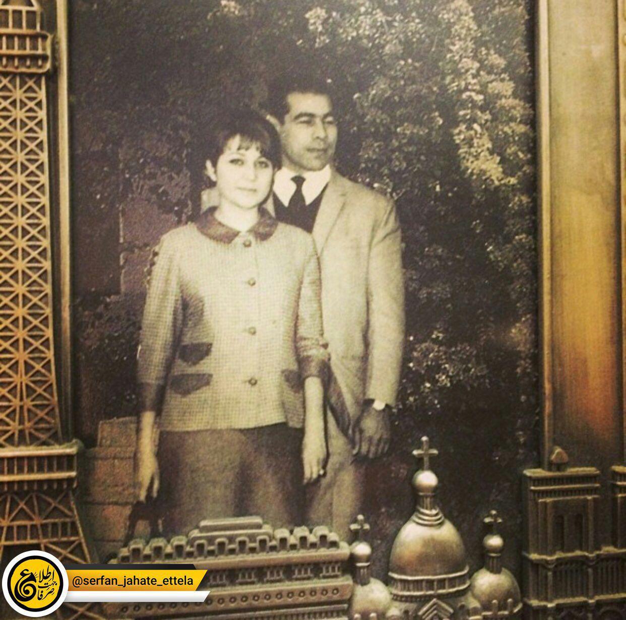 غلامرضا تختی و همسرش شهلا توکلی در عکسی دیده نشده.