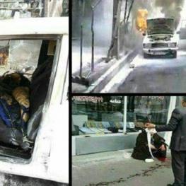 فردی  در قم پس از به آتش کشیدن یک خودرو دو روحانی را به ضرب قمه مجروح کرد.