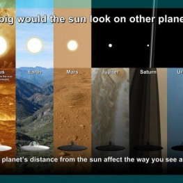 اگر ساکن سیارات مختلف بودید خورشید را در چه اندازه ای می دید
