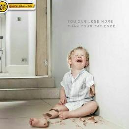پوستری خلاقانه در اعتراض به خشونت علیه کودکان