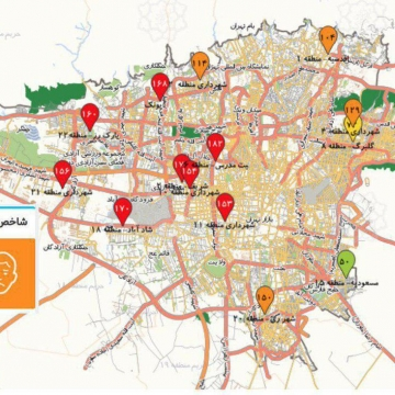 ۸ منطقه تهران در وضعیت قرمز