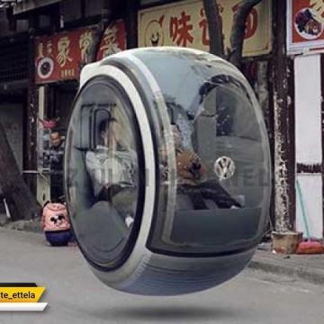 ساخت خودروی معلق توسط شرکت فولکس