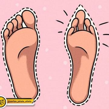 پا به صورت طبیعی و جوری که طراحان کفش بانوان پای آنها رو میبینند
