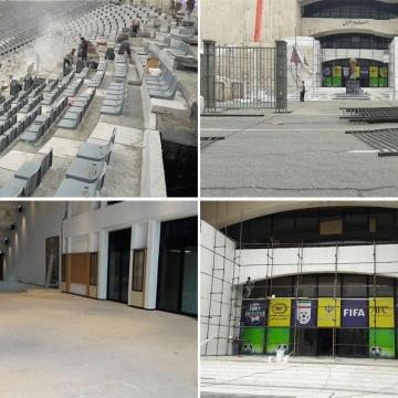 بازسازی جایگاه ویژه ورزشگاه آزادی در آستانه حضور رئیس فیفا در تهران